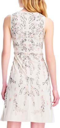 Adrianna Papell Sleeveless Beaded A-Line Dress
