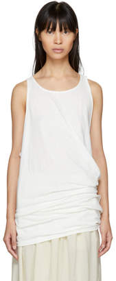Y's Ys Off-White Twisted Tank Top