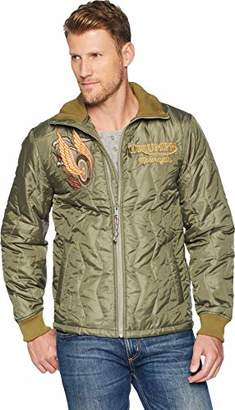 Lucky Brand Men's Embroidered Triumph Tiger Jacket