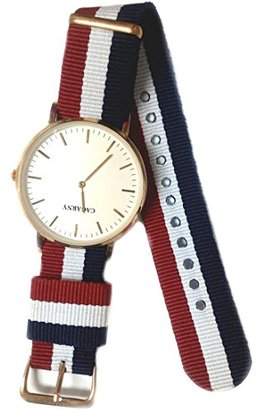 Alexis usfw962 aホワイトダイヤルローズゴールドトーン時計ケースダークブルーバンドBoy Girl Fashion Watch