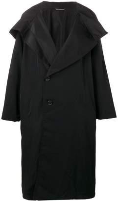 Yohji Yamamoto off-centre button coat