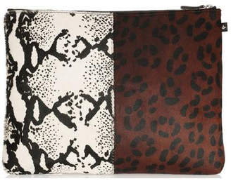 Warehouse NewbarK Double Animal Print Medium Pouch