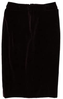 Saint Laurent Velvet Knee-Length Skirt
