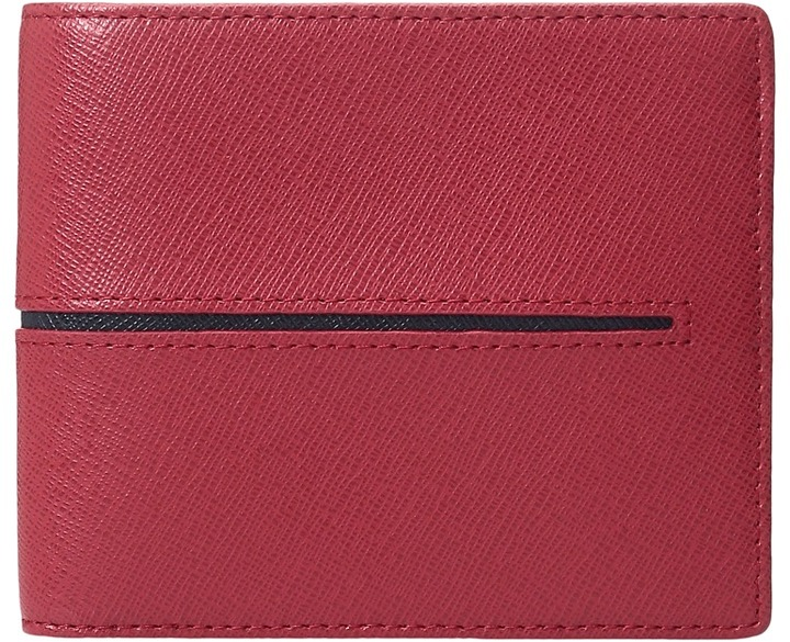 BugatchiBUGATCHI Saffiano Two-Tone Wallet