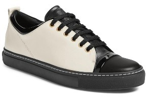 Women's Lanvin Low Top Cap Toe Sneaker $595 thestylecure.com