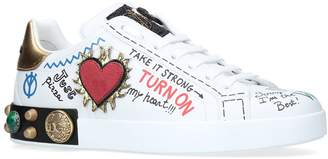 Dolce & Gabbana Portofino Embellished Tennis Sneaker