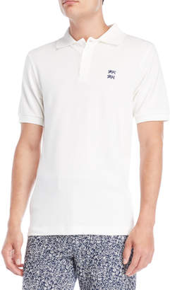 Le Mont St Michel Off-White Short Sleeve Polo