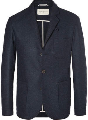Oliver Spencer Navy Solms Slim-Fit Unstructured Mélange Wool Blazer