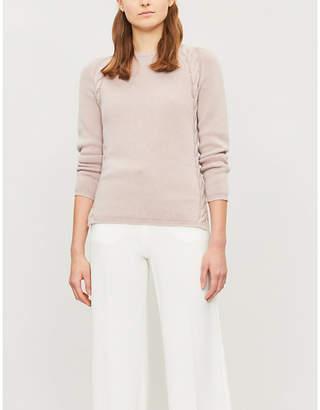 Selfridges S Max Mara Giotpi cable-knit trim cashmere jumper