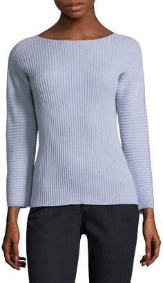 Eileen Fisher Bateau-Neckline Cashmere Sweater
