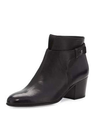 Vince Harriet Leather Ankle Boot, Black $395 thestylecure.com