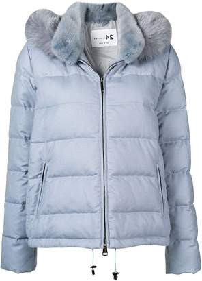 Manzoni 24 fur collar padded jacket