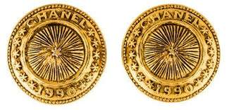 Chanel Medallion Clip-On Earrings