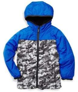 London Fog Little Boy's Camouflage Reversible Hooded Jacket