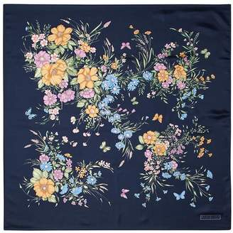 Aspinal of London Bouquet of Flowers Silk Scarf