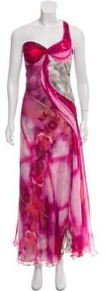 Carlos Miele Silk Halter Maxi Dress