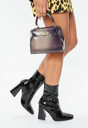 Missguided Black Transparent Mini Handbag