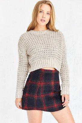 Cooperative Elton Plaid Mini Skirt $59 thestylecure.com
