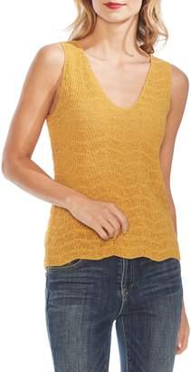 Vince Camuto Wave Stitch Sleeveless Sweater