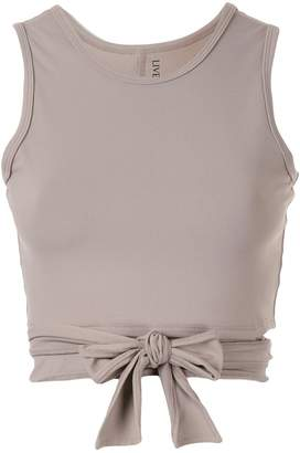 Live The Process cropped vest top