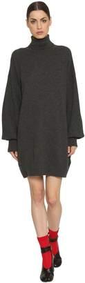 Maison Margiela Turtleneck Mohair Rib Knit Sweater Dress