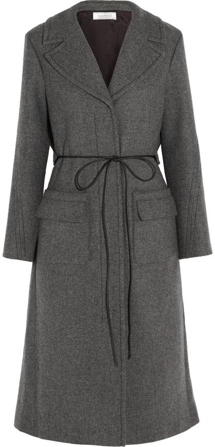 Nina RicciNina Ricci Belted wool-blend twill coat