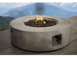 LivingSourceInternational Santiago Concrete Propane/ Natural Gas Fire Pit Table