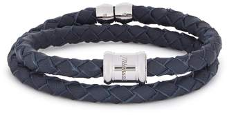 Miansai Navy Leather Wrap Bracelet