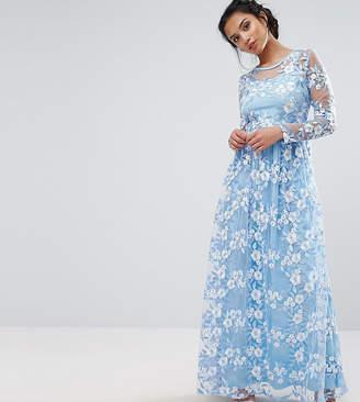 True Decadence Petite Premium 3D Lace Applique Maxi Dress
