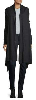 Donna Karan Heathered Open-Front Cardigan