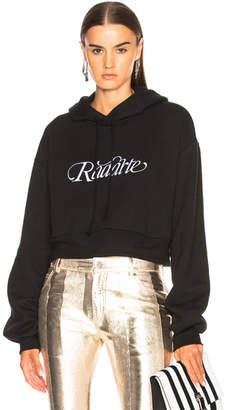 Rodarte Radarte Script Embroidery Cropped Hoodie