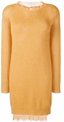 Twin-Set lace under layer sweater dress