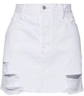 J Brand Distressed Denim Mini Skirt
