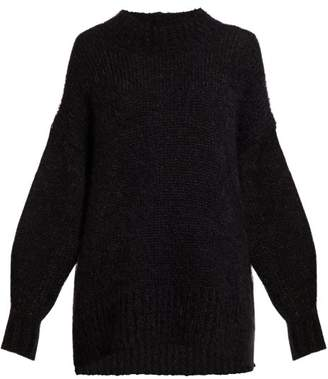 Isabel Marant Idol Oversized Mohair Blend Sweater - Womens - Black