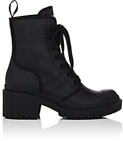 Marc Jacobs Women's Bristol Coated Twill Ankle Boots - Black
