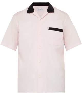 Cobra S.C. Cobra S.c. - Corduroy Trimmed Cotton Poplin Bowling Shirt - Mens - Pink