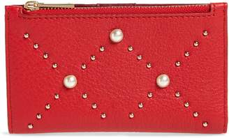 Kate Spade Hayes Street - Mikey Imitation Pearl Studded Leather Wallet
