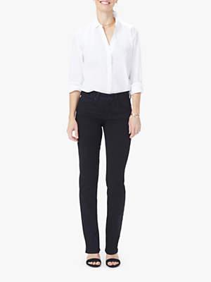 NYDJ Marilyn Petite Straight Jeans, Black