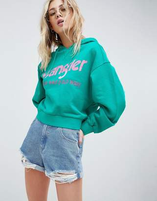 Wrangler Cropped Hoody with Logo