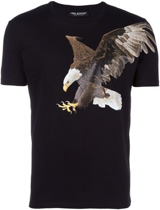 Neil Barrett eagle print T-shirt $188.93 thestylecure.com