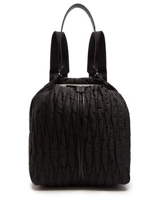 The Row Backpack 11 Quilted Nylon Backback - Womens - Black
