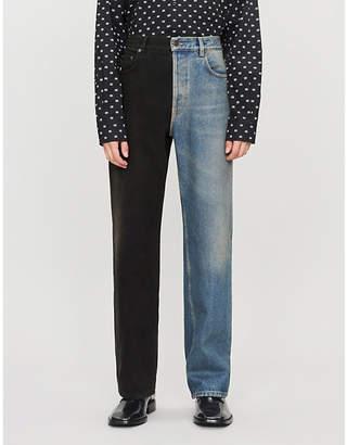 Balenciaga Two-tone wide jeans