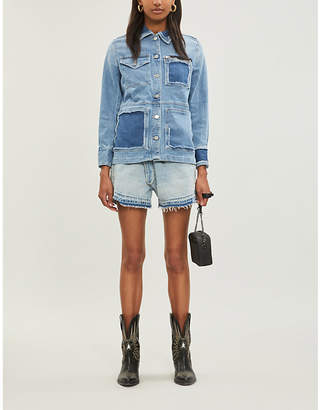 Zadig & Voltaire ZADIG&VOLTAIRE Kick Destroy deconstructed denim jacket