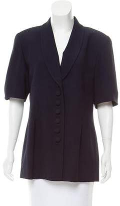 Christian Dior Shawl-Lapel Short Sleeve Blazer