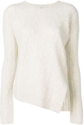Pringle asymmetric aran knit sweater