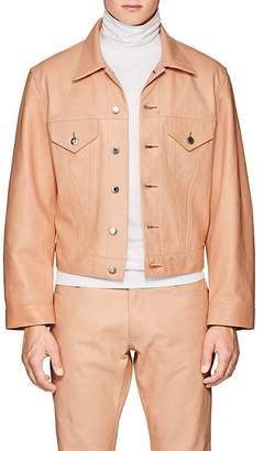 Helmut Lang Men's Leather Trucker Jacket