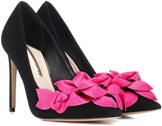 Sophia Webster Exclusive to Mytheresa Jumbo Lilico suede and leather pumps