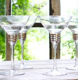 Co The Forest & Set Of Four Spiralled Margarita Glasses