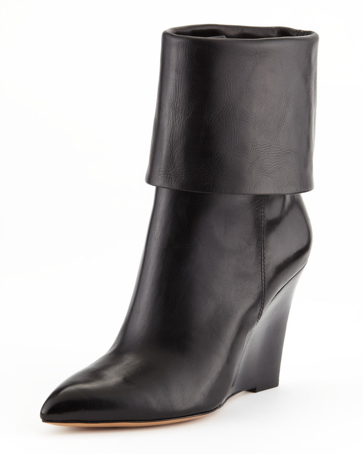 Michael Kors Paycen Fold-Over Wedge Boot