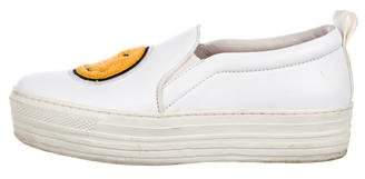 Joshua Sanders Leather Embellished Sneakers